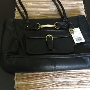 NWT Etienne Aigner  tote style bag . Black leather